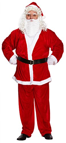 HENBRANDT Adult Santa Suit XXL Father Christmas Costume Red and White