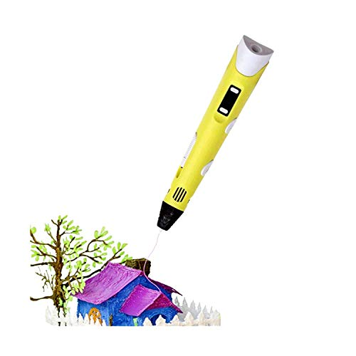 3D Printing Pen by Zellner - 3D Pen kit with Temperature Adjustment - 3D pens for Kids with LCD Screen for Power Indicator/Speed Printing - 3D Printer Pen with 12 filaments / 3 metres per Colour