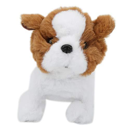Asixxsix Perro de simulación, Duradero algodón de Fibra Corta, vívido y confiable, Perro de Peluche eléctrico, plástico Suave para Regalo de cumpleaños, Navidad, niños(Saint Bernard)