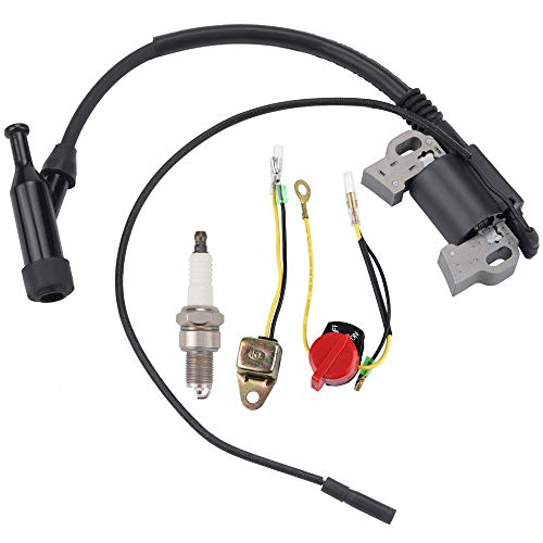 Ginode Gx390 Gx340 Gx240 Gx270 Ignition Coil Module fit Honda GX240 GX270 8HP 9HP 11HP 13HP Engine Lawn Mower Tractor Replace 30500-Z5R-003 30500-Z5T-003 30500-ZF6-W03 30500-ZF6-W02