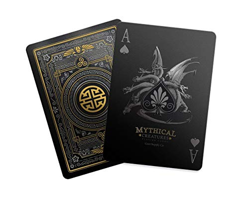 Mythical Creatures - Black Silver & Gold Edition Playing Cards by Gent Supply