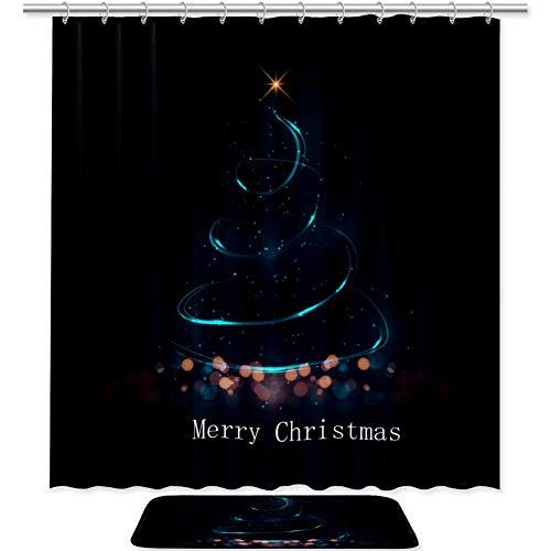 cortinas ducha poliester merry christmas
