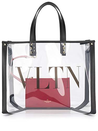 Luxury Fashion | Valentino Dames TW2B0D21MCE2P0 Wit Pvc Handtassen | Lente-zomer 20