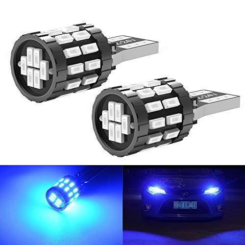 GSDGBDFE 2pcs W5W 30-3014 SMD Car T10 194 168 Reemplazo de cuña Lámpara de Panel de Instrumentos inversa Bulbos Azules Blancos para Luces de liquidación (Emitting Color : Blue)