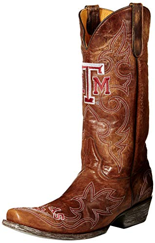 Gameday Boots NCAA Texas A&M Aggies Herren, Herren, TAM-M007, Messing, 10 D (M) US