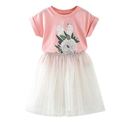 0-10 años de edad, conjunto de trajes para niñas de niños pequeños trajes de ropa de conejo impresión...