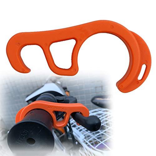 Blusea Feststellbremse Verriegelungshaken Motorräder Fahrräder Tragbare Rampe Parkschutzschnalle Geeignet für die Meisten Motorräder und Fahrräder