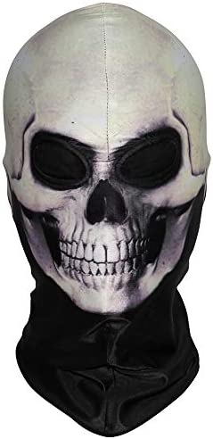 WPTCAL 3D Skull Balaclava Skeleton Balaclava Face Mask Scary Ghost Skull Cover Hood Blaclava product image