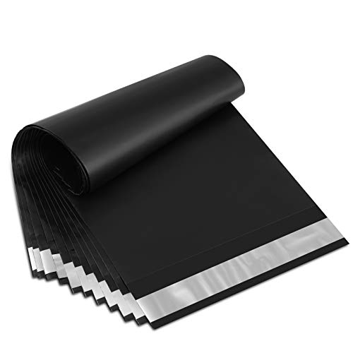 UCGOU 6x9 Inch 200Pcs Black Poly Mailers Premium Shipping Envelopes Mailer Self Sealed Mailing Bags with Waterproof and Tear-Proof Postal Bags