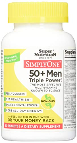 SuperNutrition, SimplyOne Multi-Vitamin for Men 50+, High-Potency, One/Day Tabelts, 90 Day Supply