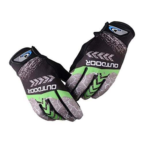 Mountain bike bicycle gloves full finger cycling gloves warm anti skid sunscreen anti skid bicycle gloves outdoor motorcycle shockproof gloves-A2-L
