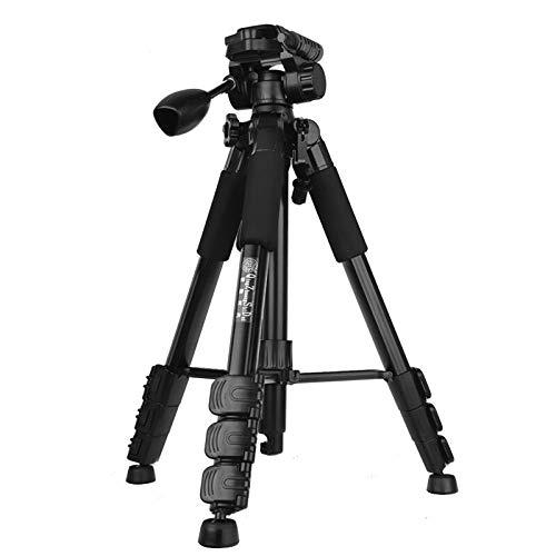 SLR Camera Statief Gimbal Set Aluminium Draagbare Multifunctionele Outdoor Reizen Mobiele Telefoon Houder Compatibel met Digitale Camera/Dv/Camera/Telescope Etc. Eenvoudig in gebruik. Adjustable Zwart