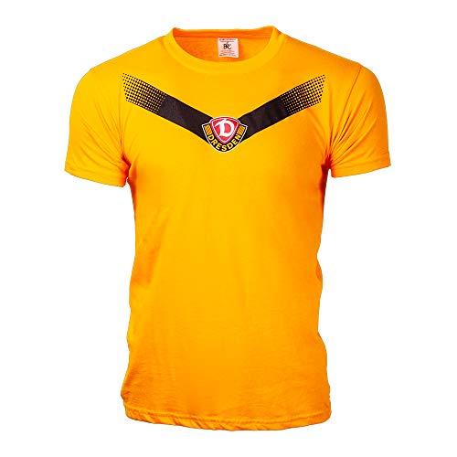 SG Dynamo Dresden Kinder-Shirt Streifen gelb, Größe:98-104/3-4