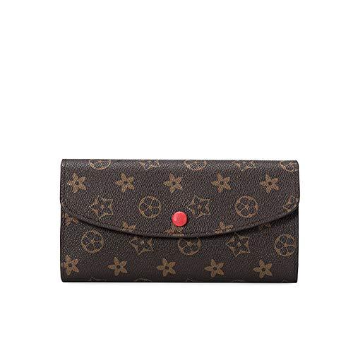 Ldyia Brieftaschendruck Damen Clutch Bag Retro Geldbörse Lange Multi-Karten-Brieftasche Geldbörse,...