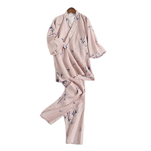 Traje de Pijamas de Traje de Pijamas Kimono de Estilo japonés para Mujeres [Talla L, B]