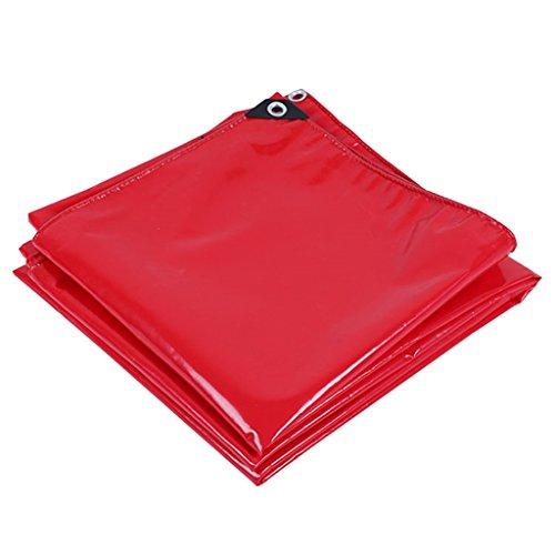 LIYFF- Sábana Impermeable a Prueba de Agua de Lona roja Sábanas Resistentes - Resistente a UV, anticorrosión, Espesor 0.45 mm, Opciones de Varios tamaños (Tamaño : 2MX2M)
