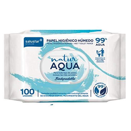 Papel higiénico húmedo Natur Aqua 100 unidades
