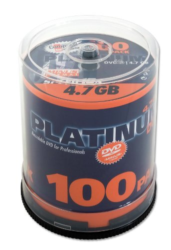 Platinum 4,7 GB DVD-R DVD-Rohlinge (16x Speed) 100er Spindel