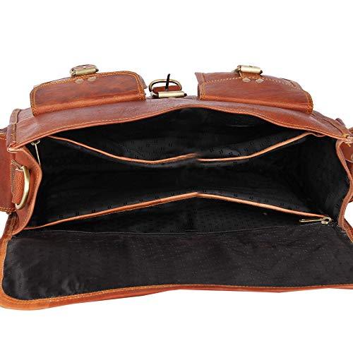 Leather Native Crossbody NEW Men's Genuine Vintage Brown Leather Messenger Shoulder Laptop Bag Briefcase School/Work/Business Bag Great Gift For Men And Women Spring Sale!