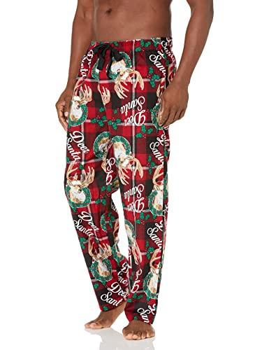 Varsity Men's Printed Flannel Pajama Pant, Dear Santa, X-Large
