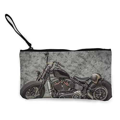 Coin Pouch Harley Davidson Motorfiets Canvas Coin Portemonnee Mobiele Telefoon Kaarttas met Handvat en Rits