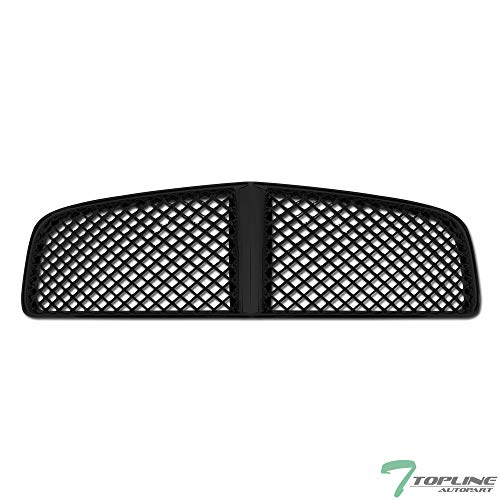 Topline Autopart Black Mesh Front Hood Bumper Grill Grille ABS For 05/06-10 Dodge Charger