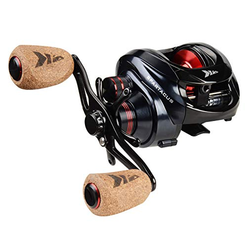 KastKing Spartacus Plus Baitcasting Fishing Reel,Rubber Cork Version,Right Handed Reel