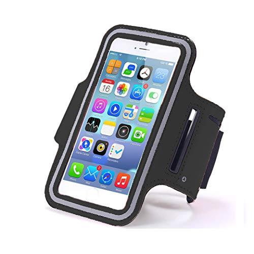 AXELENS Fascia da Braccio Porta Cellulare Universale Sport per Smartphone Fino a 6.7 Pollici - iPhone 12/11 PRO Max/X/XS/Galaxy A71 / S21 Huawei P Smart/Redmi 9 Mi 11 Oppo Find X3 / A53s - Nero