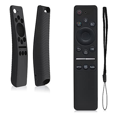 kwmobile Cover protettiva compatibile con Samsung BN59-01312A / BN59-01312B - Custodia in silicone per telecomando TV - Guscio salva telecomando antiurto - nero