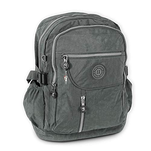 DrachenLeder Damen Herren Jugend Sporttasche Rucksack grau Nylon 30x18x38 OTJ604K Nylon Sporttasche