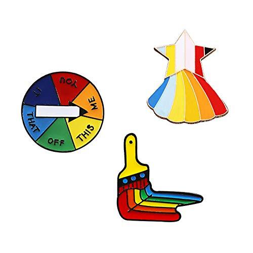 3Pc / Set Regenbogen Emaille Pin Lgbt Design Herz Wolken Flagge Schaf Bleistift Kreative Metall Brosche Homosexuell Stolz Anstecknadeln Abzeichen Schmuck
