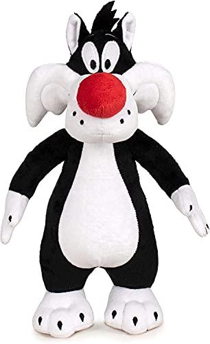 Peluche de Looney Tunes, diferentes figuras | 32 – 40 cm Nueva Edición | Tweety Duffy Duck Bugs Bunny y amigos | original Space Jam 2021 película regalo para niños (Sylvester)