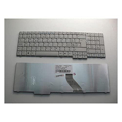 IFINGER Teclado Compatible con portátil Acer Aspire 5535 5535Z 5735Z 5737Z 7100 7111 9410 9420 Repuesto Suizo