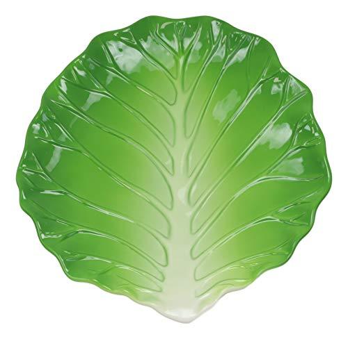 "Ebros 12"" Wide Cabbage Leaf Shaped Serving Plate"