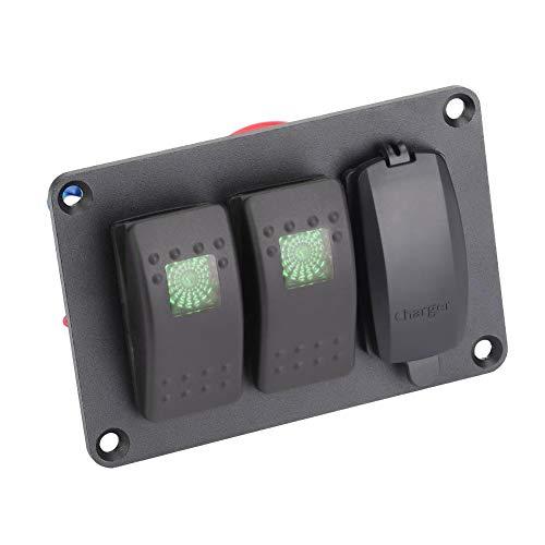 Panel de interruptores impermeable para automóviles para barcos (azul)
