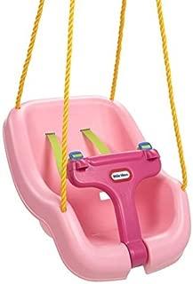 Little Tikes 2-in-1 Snug 'n Secure Swing, Pink (Renewed)