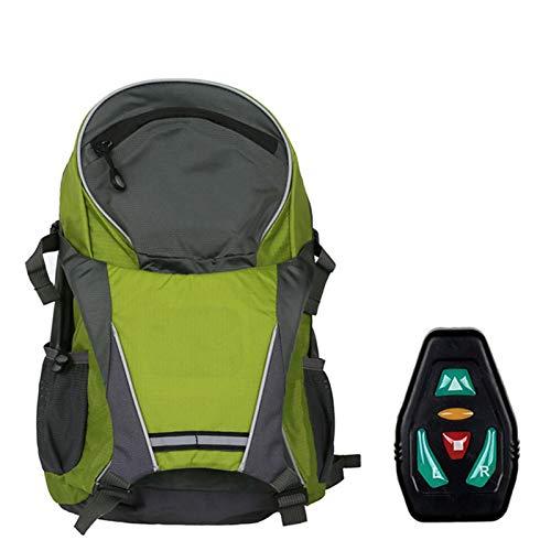 Topaty - Zaino intelligente a LED, con luce di guida di avvertimento per bicicletta, bicicletta