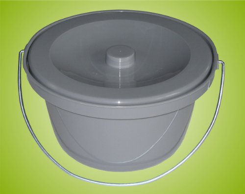 Toilettenstuhleimer Grau, universal *Top Qualität zum Top Preis*