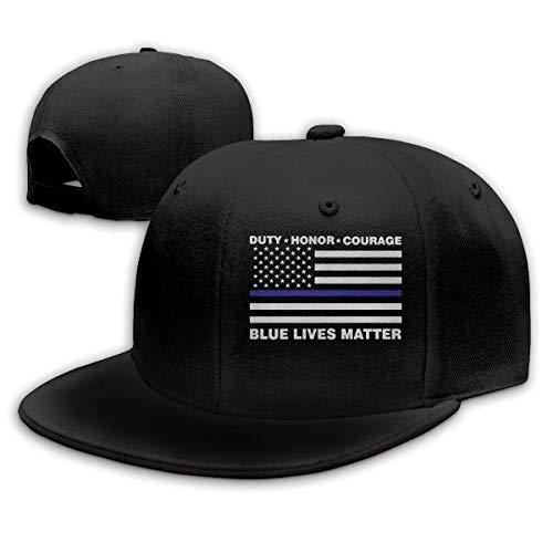 N / A Cappello Baseball,Berretto da Baseball per Adulti, Blue Latter Matter Police Blue Line Us Flag Cappelli Hip Hop Cappellino Snapback Regolabile Cappellino Sportivo da Uomo