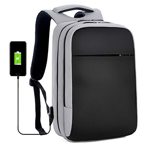 HONGER Laptop Backpack, Anti-Theft Business Travel Work Computer Rucksack with USB Charging Port, for Men and Women Fits 15.6 Inch Laptop and Notebook,Gray