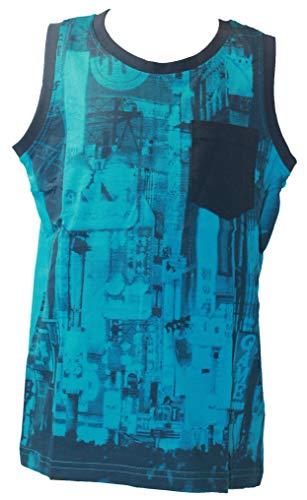 Blue Seven Jungen Top Tanktop Trägershirt T-Shirt Cyan blau Gr. 152