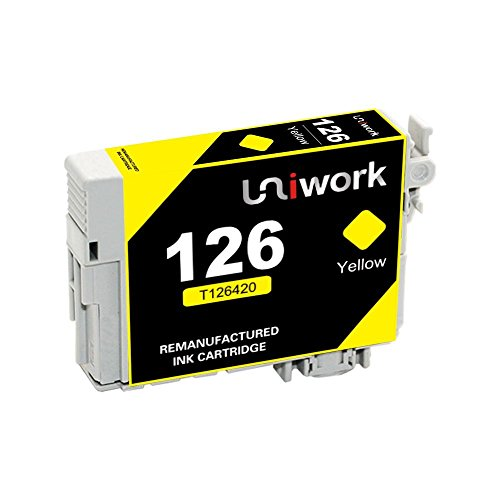 Uniwork Remanufactured Ink Cartridge Replacement for Epson 126 T1   26 use for Workforce 545 845 645 635 520 435 WF-3540 WF-3520 WF-3530 WF-7010 WF-7510 WF-7520 Stylus NX430 Printer, 10 Pack