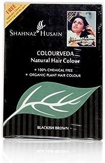 Shahnaz Husain Colourveda Natural Hair Colour, Blackish Brown/Pack of 2, 100g