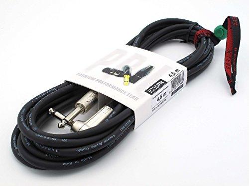 X-LEAD IC35PN045BK Serie PLATINUM, cable de instrumentos profesional de calidad para guitarra/bajo/teclados - Jack/Jack - conectores NEUTRIK originales - (4,5 m, negro) - MADE IN ITALY by INCO