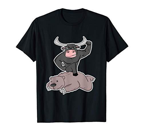 Bulle gegen Bär Aktienmarkt Stock Market Kursentwicklung T-Shirt