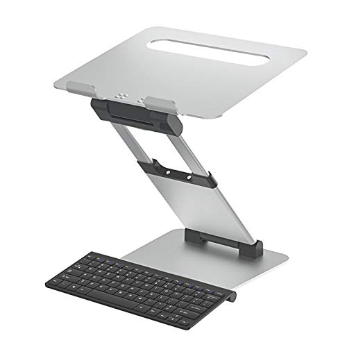 Portable Foldable Laptop Riser Aluminum Alloy Laptop Stand with ABS Plastic Non-slip Silicone Compatible with 11'' -17'' Notebook MacBook Tablets iPad