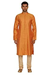 Manyavar Mens Blended Kurta & Churidar Set