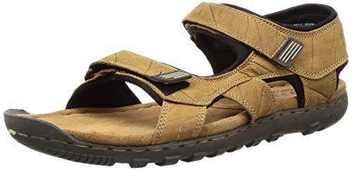 Woodland Men's Camel Leather Sandal-8 UK/India (42 EU) (GD 1037111CMA)