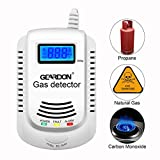 Natural Gas Detector, GEARDON Plug-in Home Gas/Methane/Propane Alarm, Leak Sensor Detector with Voice Promp and LED Display