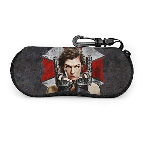 Resident Evil Eyeglass Case, tragbarer Reise-Reißverschluss Sonnenbrillenetui Brillentasche Guard Set